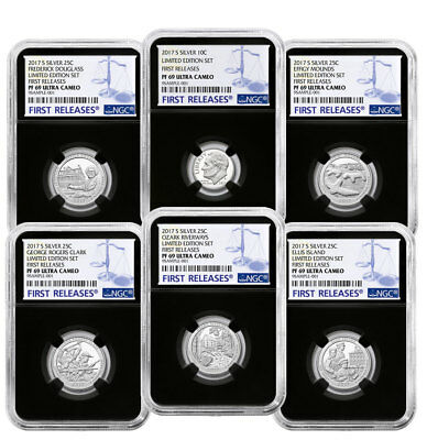 6-Coin 2017-S Limited Edition Silver PF Set (Minors) NGC PF69 UC FR Blk SKU50126