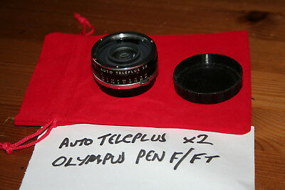 VERY RARE Auto Teleplus x2 Converter for Olympus Pen F / FT Half frame 35mm SLR