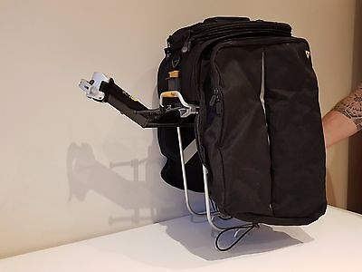 Topeak MTX Trunk bag and MTX Quick Track frame