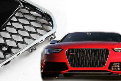 Audi A5 Facelift tuning Kühlergrill NEU Wabengrill SCHWARZ CHROM grill rs5 S5