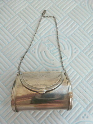 Dainty Antique  Silver Plate  Purse or Pill Box