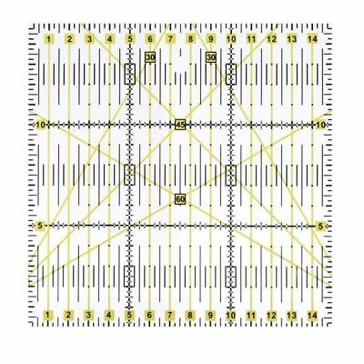 Tools Patchwork Accessory Sewing Transparent 15 X 15 X 0.3cm Quilting Ruler