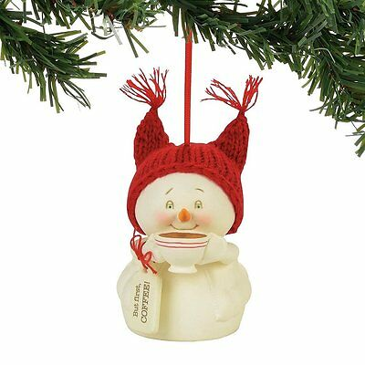 Snowpinions But First, Coffee! Snowman Christmas Tree Ornament new holiday