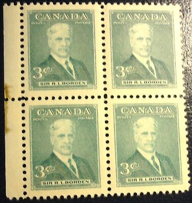 Canada Stamp 1951 Sc #303 Prime Minister Block Mnh