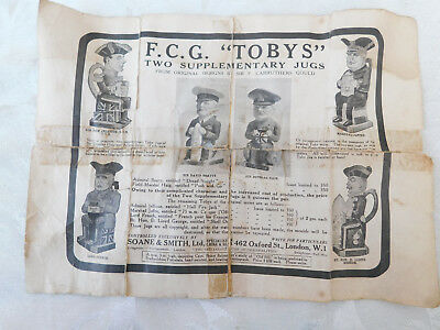 Rare Ww1 Patriotic Wilkinson Carruthers Gould Toby Jugs Original Paper Advert