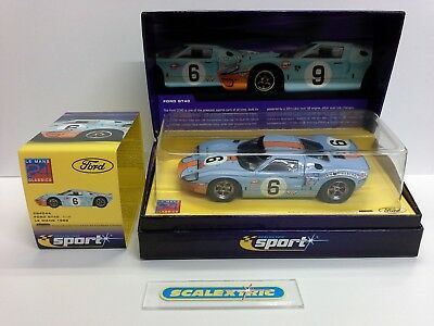 SCALEXTRIC SPORT FORD GT40 #6 C2404A (MINT - BOXED) 1969 Le Mans Winner Ltd Ed