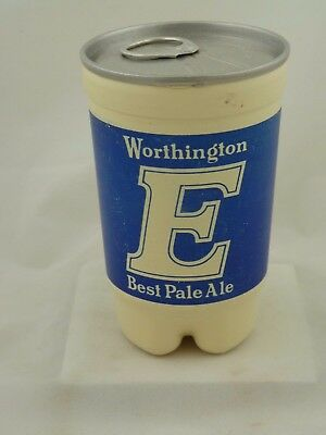 Empty plastic beer can from England 1980s