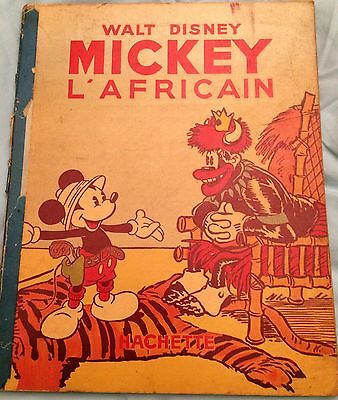 Mickey Hachette Édition Originale 1939 - Mickey L'Africain