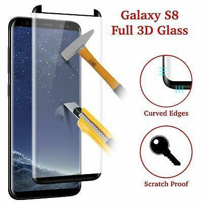 S8 Full Curved 5D Tempered Glass Screen Protector For Samsung Galaxy S8 - black