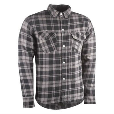Highway 21 Marksman Mens Flannel Riding Shirt Gray/Black
