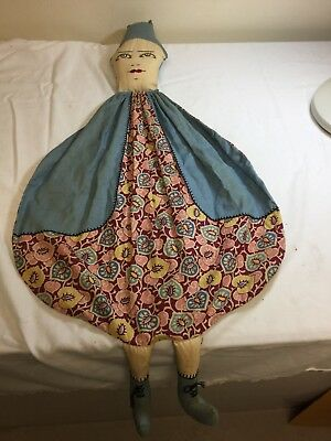 Vintage Circa 1940's Doll Face Body Clothespin Bag