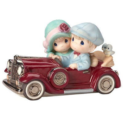 Our Love Is Timeless Precious Moments Figurine Couple Classic Car Elegant NWOB