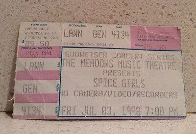 Spice Girls Ticket Stub 1998 Meadows Music Theatre July 3