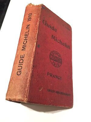 Guide Rouge Michelin France 1910