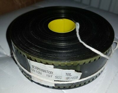 35mm original terminator trailer film reel 1984