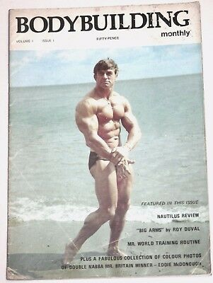 VERY RARE UK BODYBUILDER MAGAZINE - FIRST EVER ISSUE incl Eddie McDonough