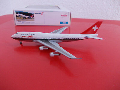 Herpa Wings Yesterday 523356 Swissair Boeing 747-400  Retro Livery 1/500 Limited