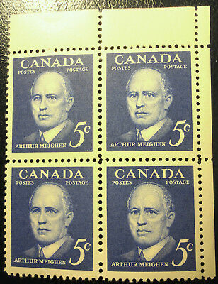 Canada Stamp 1961 Sc #393 Prime Minister Block Ur Blank Mnh