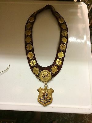 "antique "" independent order of oodfellows "" manchester unity steampunk necklace"