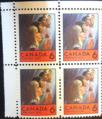 Canada Stamp 1969 Sc #503P Tagged W2B Christmas Block Ur Blank Mnh