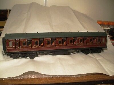 O gauge - LMS all 3rd centre corridor open coach - Fred Newman - VGC