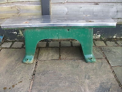 Vintage Cast Iron Machine Bench