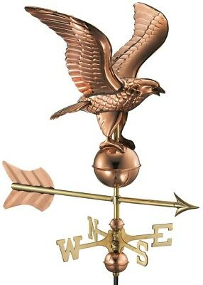 Eagle Cottage Weathervane Accent Directions Polished Pure Copper Roof Mount