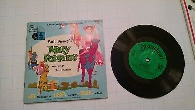 Vintage Disneyland Record and Book Mary Poppins