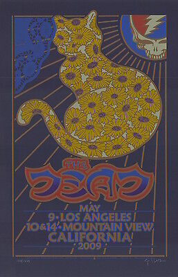 The Dead 2009 California Tour SIGNED Gary Houston Poster