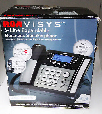 RCA ViSYS 25425RE1-A 4 Line Base Business Office Answering System Speaker Phone