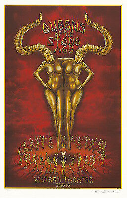 MINT EMEK Queens Of The Stone Age Wiltern Theater PEARL Poster 21/100