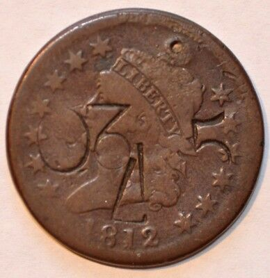 """1812 1C Classic Head Counter-Stamp.holed And Plugged"""" 85, U,3, Z, 5 Not Kidding"""