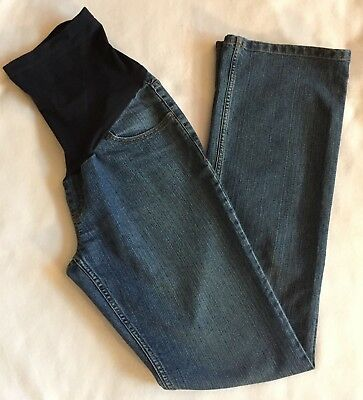 Motherhood Maternity Jeans Medium Full Belly Cover Boot Cut Medium Wash