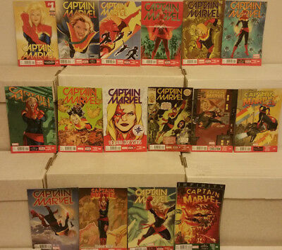 Captain Marvel #1 to 15 Complete Marvel Comics Lot Kelly Sue DeConnick NM-
