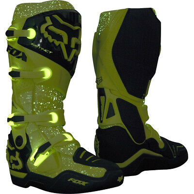 2016 Fox MX Instinct Boot - FOXBOROUGH GLOW IN THE DARK Limited Edition Blue Yel