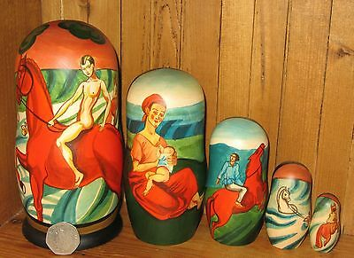 Russisch Verschachtelte Puppe Matryoshka vodkin Baden The Red Pferd Mutter