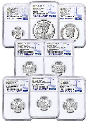 8-Coin Set 2017-S US Limited Edition Silver Proof Set NGC PF70 UC FR SKU50179