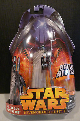 Star Wars - 2005 Revenge Of The Sith Grevious' Bodyguard Figure - Sealed On Card