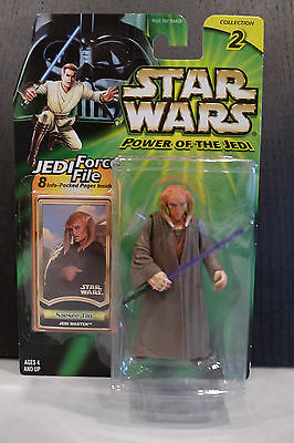 Star Wars - 2000 Power Of The Jedi Saesee Tiin Figure - Factory Sealed On Card!