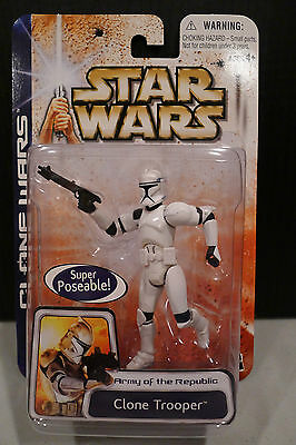 Star Wars - 2003 Clone Wars Collection - Clone Trooper Figure - Factory Sealed!