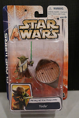 Star Wars - 2003 Clone Wars Collection - Yoda Figure - Factory Sealed On Card!