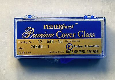 Fisherfinest™ Premium Cover Glass 24mm x 40mm  1 oz. Catalog No. 12-548-5J