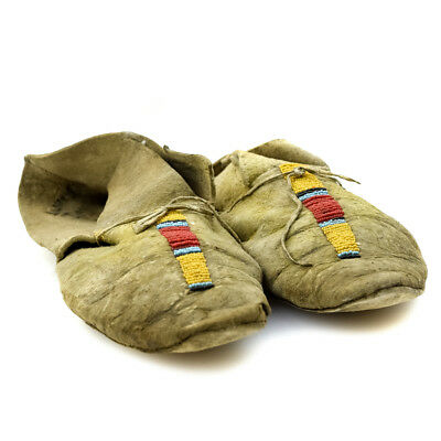 c. 1890 Northern Plains Beaded Moccasins