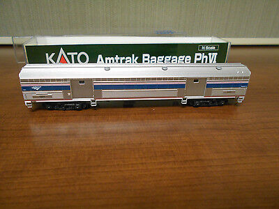 N Scale KATO AMTRAK AMTK Baggage Car # 1221 - Phase VI