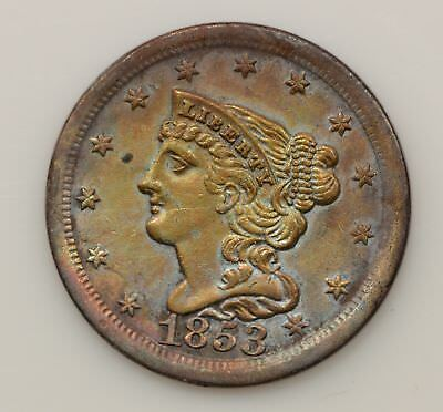 1853 Braided Hair Liberty Head Half Cent *G20