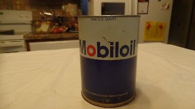 Vintage MOBILOIL CAN Outboard Super Great Oil Advertising Empty