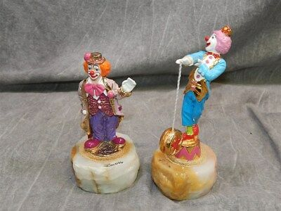 2 Ron Lee Signed Clown Figures