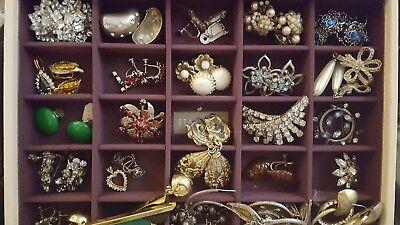 HUGE LOT Vintage Jewelry 125 Pieces Retro Victorian Signed
