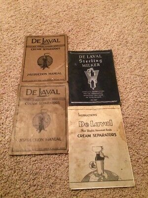 4 Vintage Delaval Milker Instruction Books