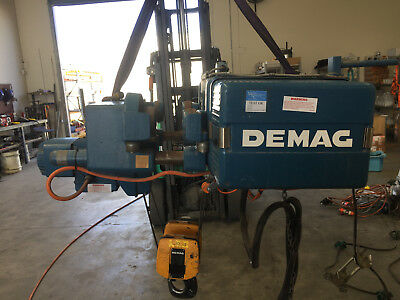 Demag EKDH 168, 3.2t, low-headroom monorail hoist